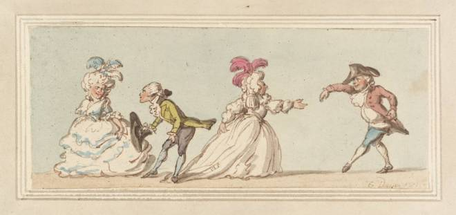 Longways Dance null by Thomas Rowlandson 1756-1827